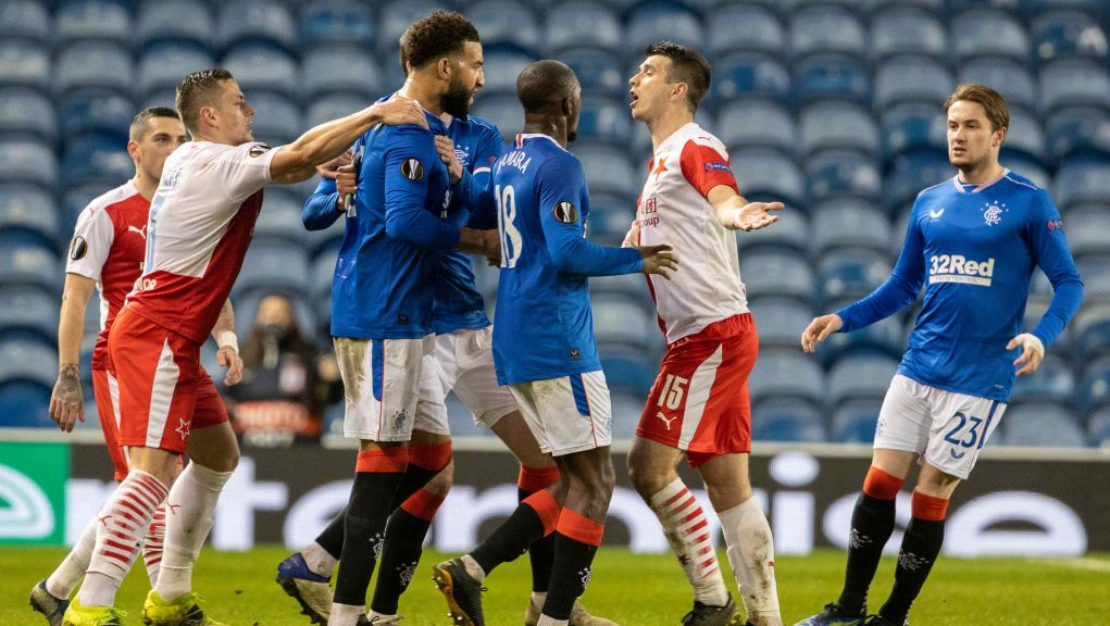 Football: The incidents are alleged to have taken place during a Rangers vs Slavia Prague match.