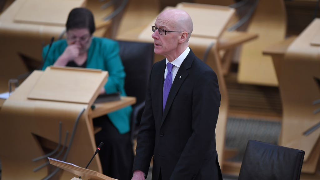 John Swinney said 'key legal advice' will be sent to the committee on Tuesday.