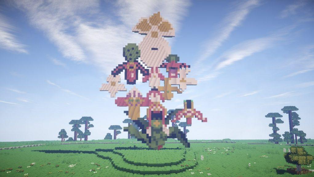 Minecraft: Sculpture park Jupiter Artland has been recreated.