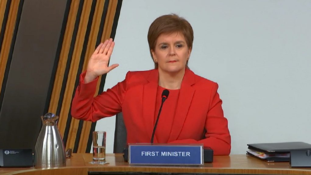 Sturgeon: Set to give evidence at Salmond inquiry.