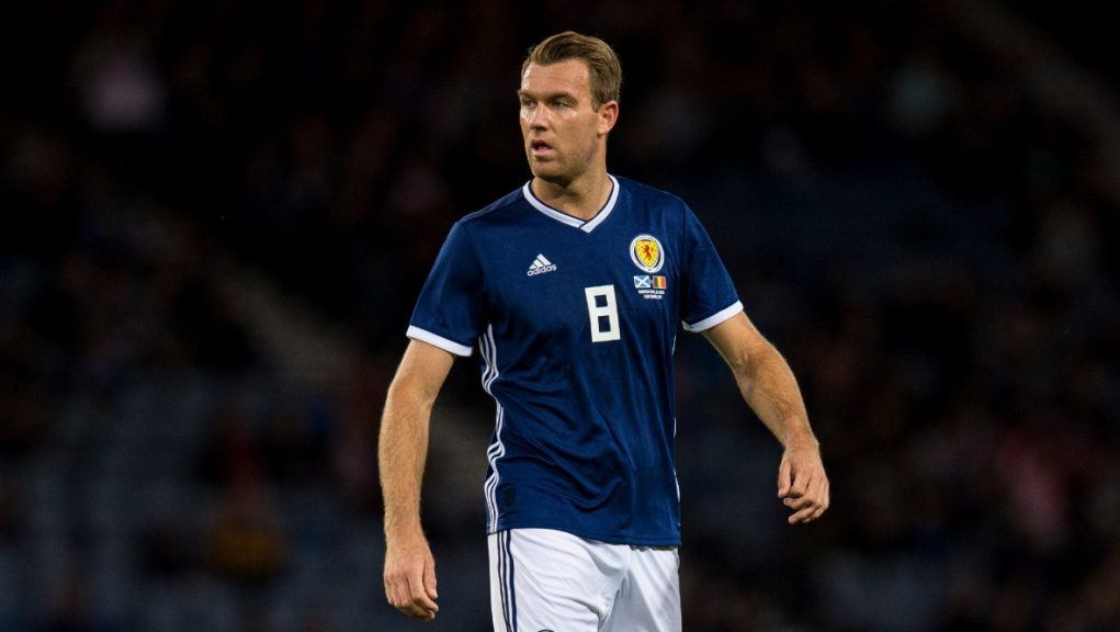McDonald during Scotland's friendly with Belgium in 2018.