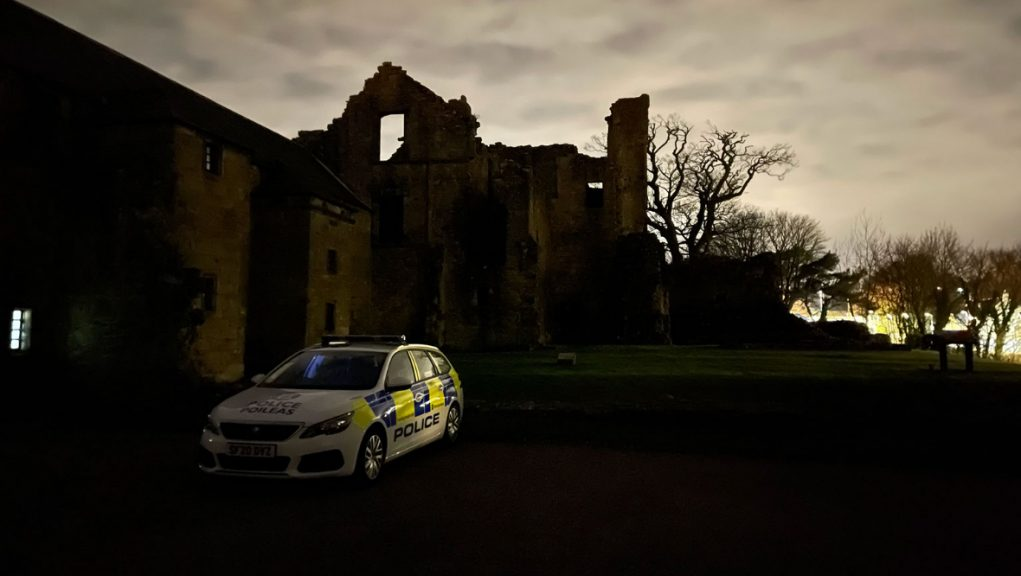 Police have keys to the gates and have been making regular checks on Aberdour Castle.