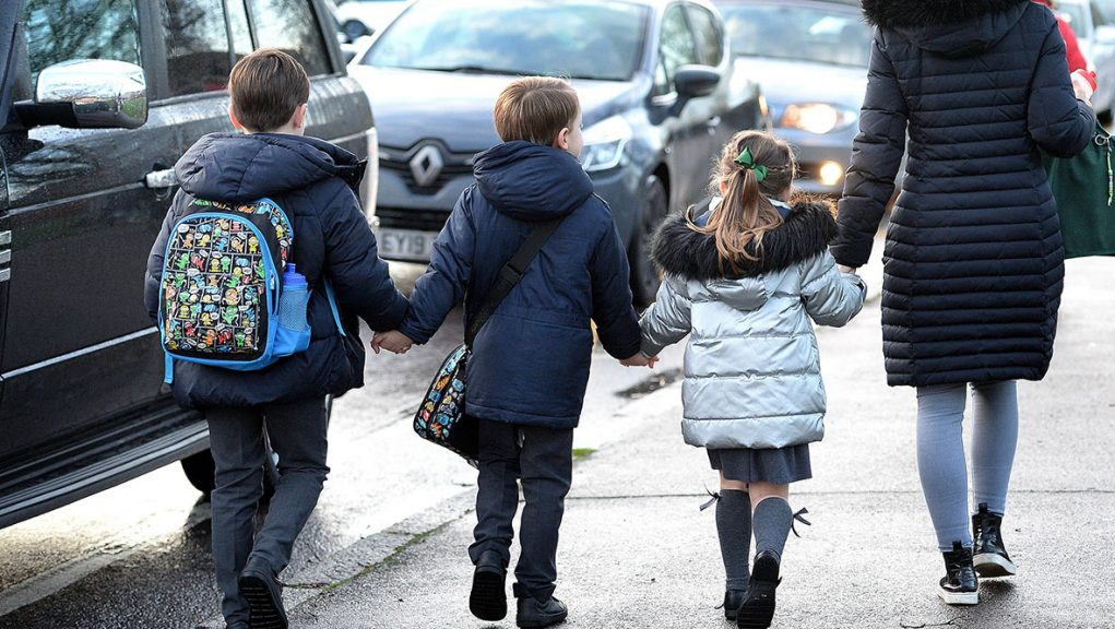 Primary four to seven pupils returned to school on Monday.