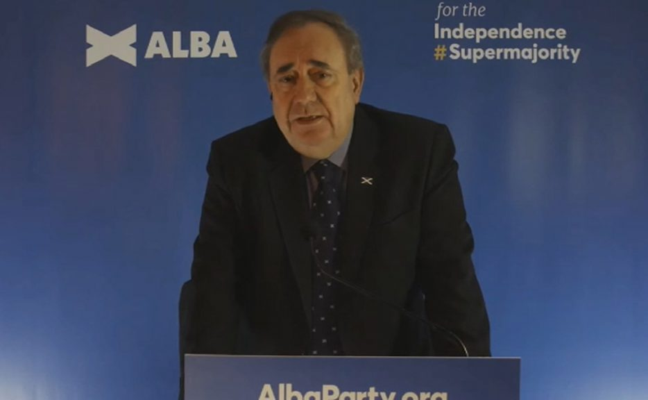 Alex Salmond is standing as leader of a new pro-independence party at the Holyrood elections in May.