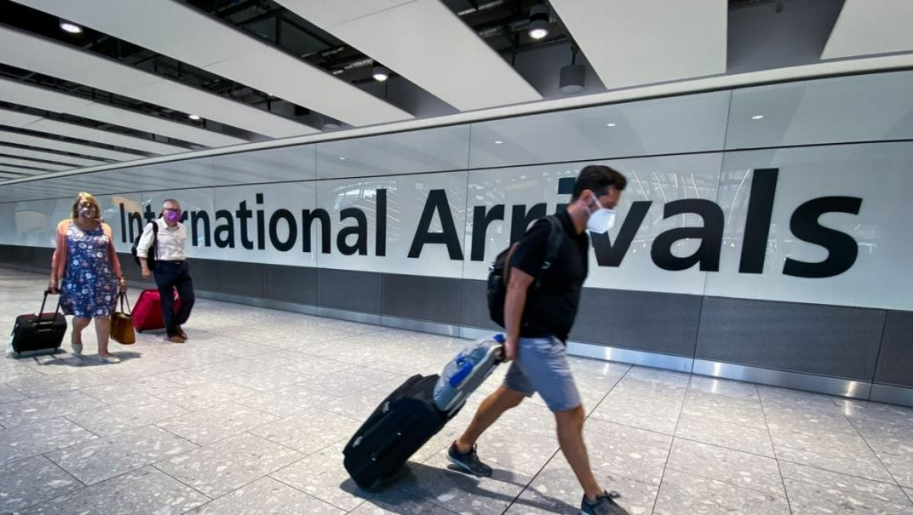 Airport: Nicola Sturgeon said it was not believed to be linked to three cases who earlier flew into Scotland from Brazil.