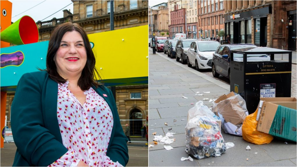 Glasgow City Council leader is calling on residents to help clean up city.