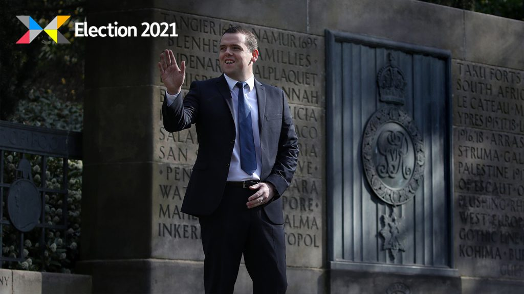 Tory leader Douglas Ross has unveiled his party's infrastructure plan.