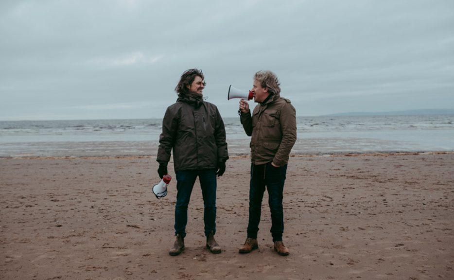 Dutch duo, Strijbos & Van Rijswijk on the beach at Irvine.