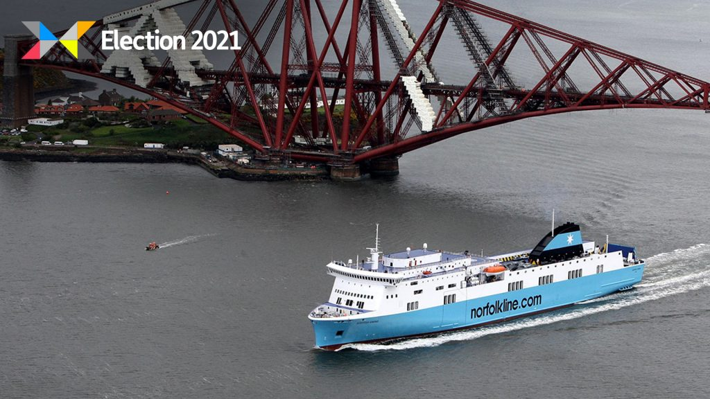 Greens want to see ferries travelling between Scotland and Europe once again.