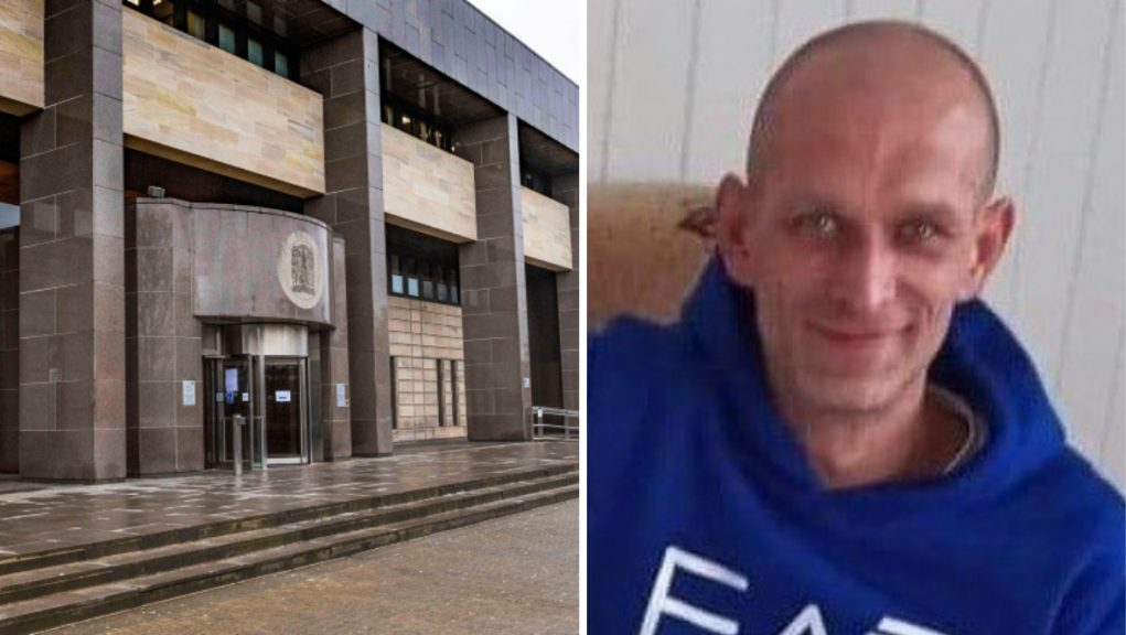 Kai Russell appeared at Glasgow Sheriff Court accused of the murder of Kamil Charyszyn (right).