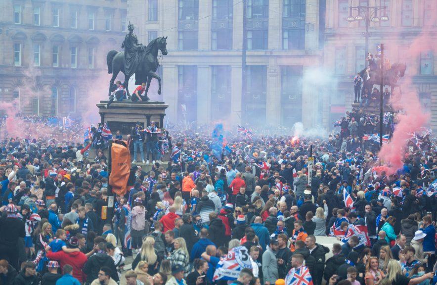 Rangers fans: 'Endangering lives' with 'Covid risk' celebrations.