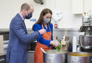 Kate and William get cooking in Scotland.