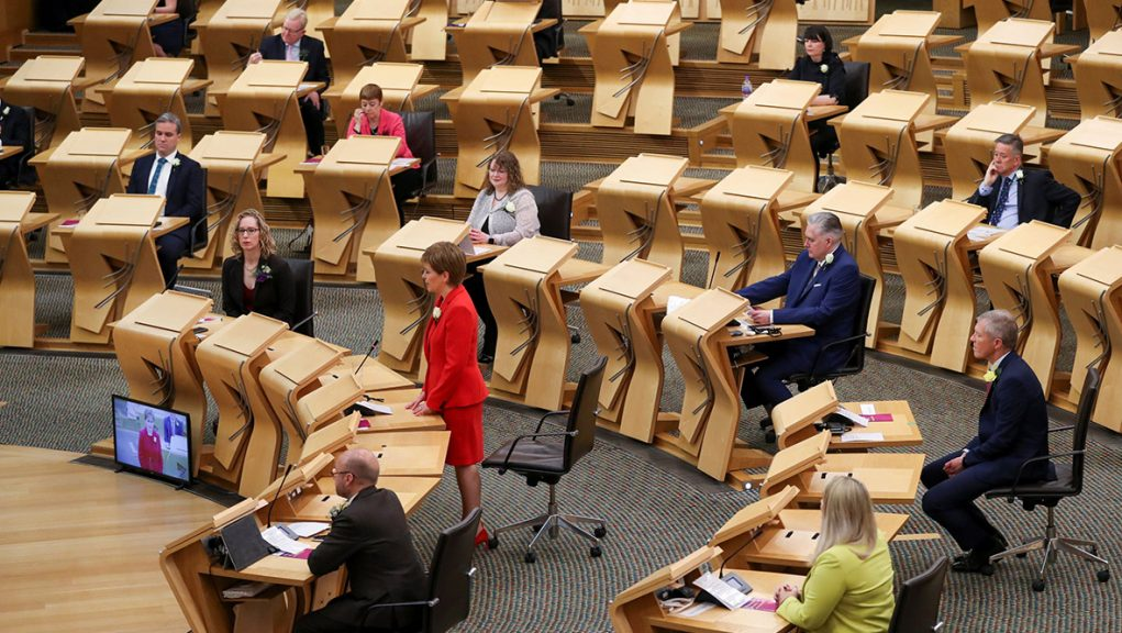 MSPs will vote to choose the First Minister on Tuesday afternoon.