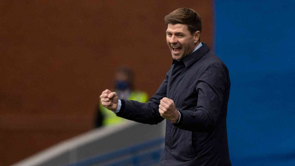 Gerrard's Rangers side will lift the Premiership trophy on Saturday.