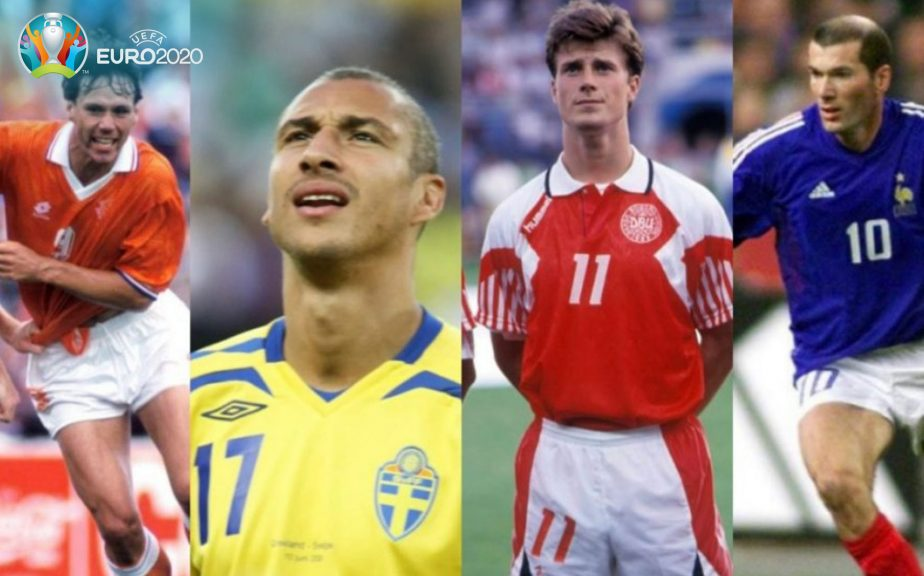 Euros legends: Van Basten, Larsson, Laudrup and Zidane.