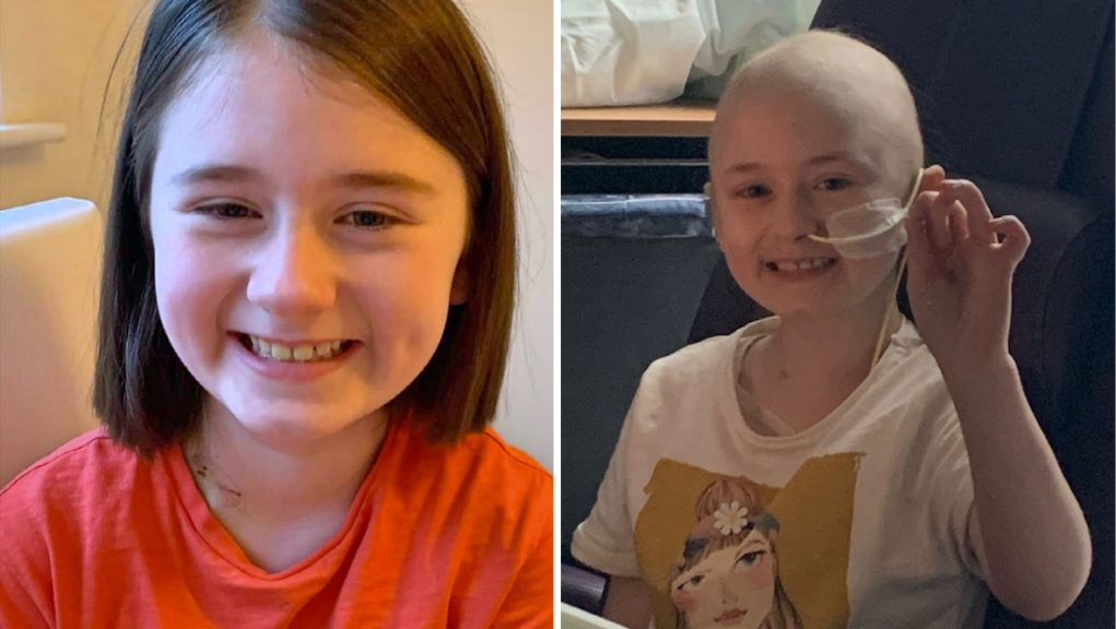 Katie Paterson, eight, was diagnosed with a brain tumour in December.