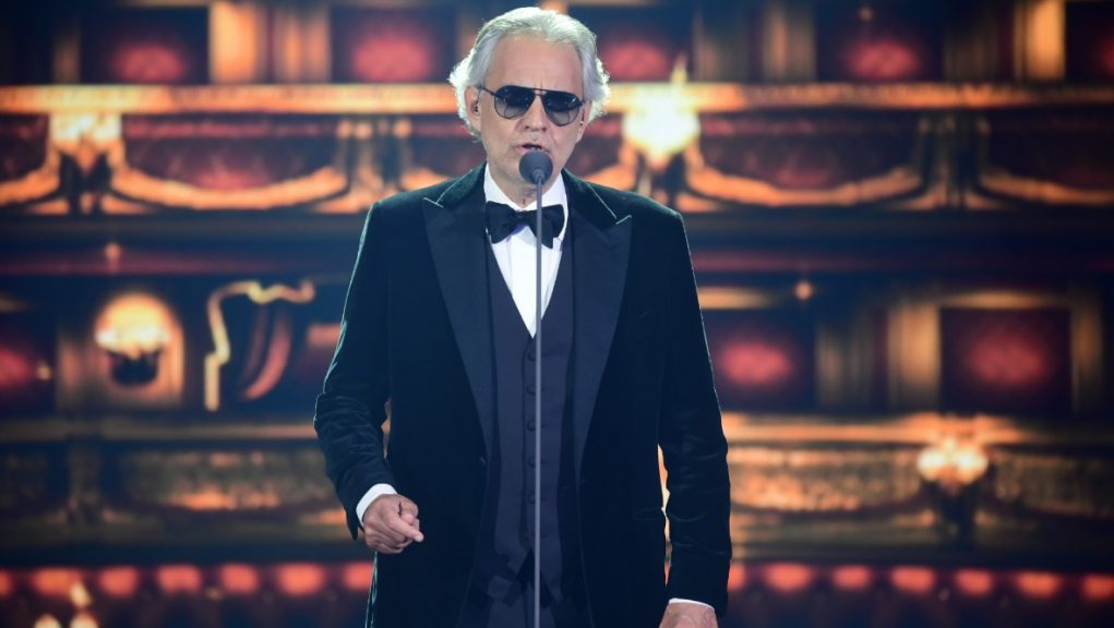 Superstar: Andrea Bocelli will be coming to Scotland next year.