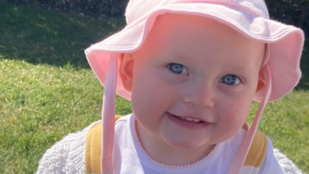Heartbreaking: Ella-Grace Rimington, who was known as Gracie, died after falling into a pond.