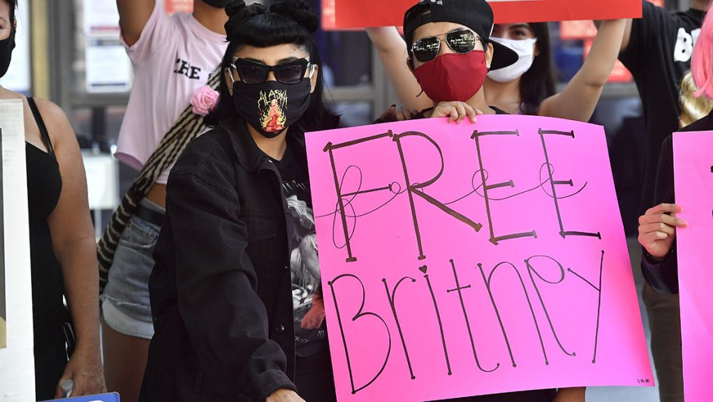 Free Britney: Campaigners showing support for pop-star.