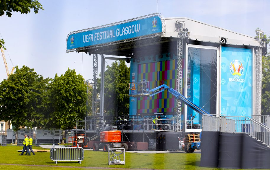 The Glasgow fan zone will see up to 6000 people per day gather to watch matches.