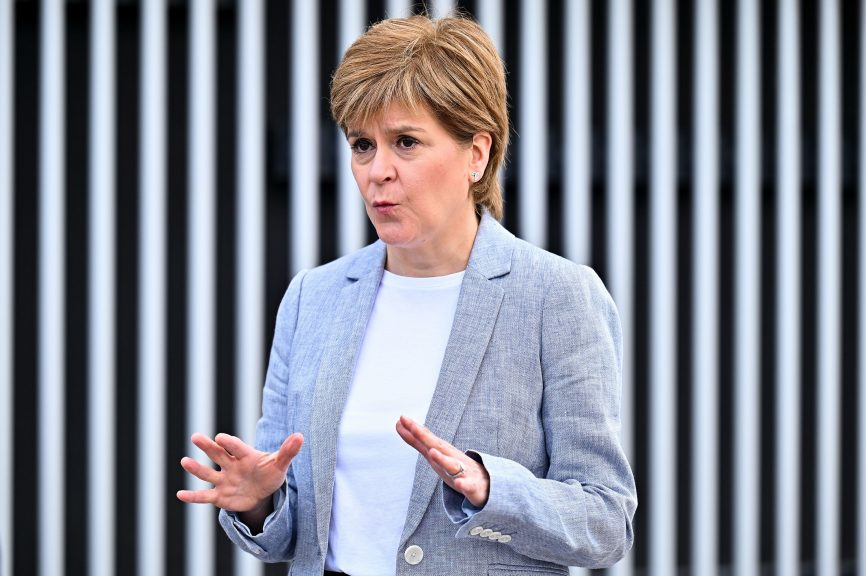 First Minister: Nicola Sturgeon responded to comments made by Michael Gove.