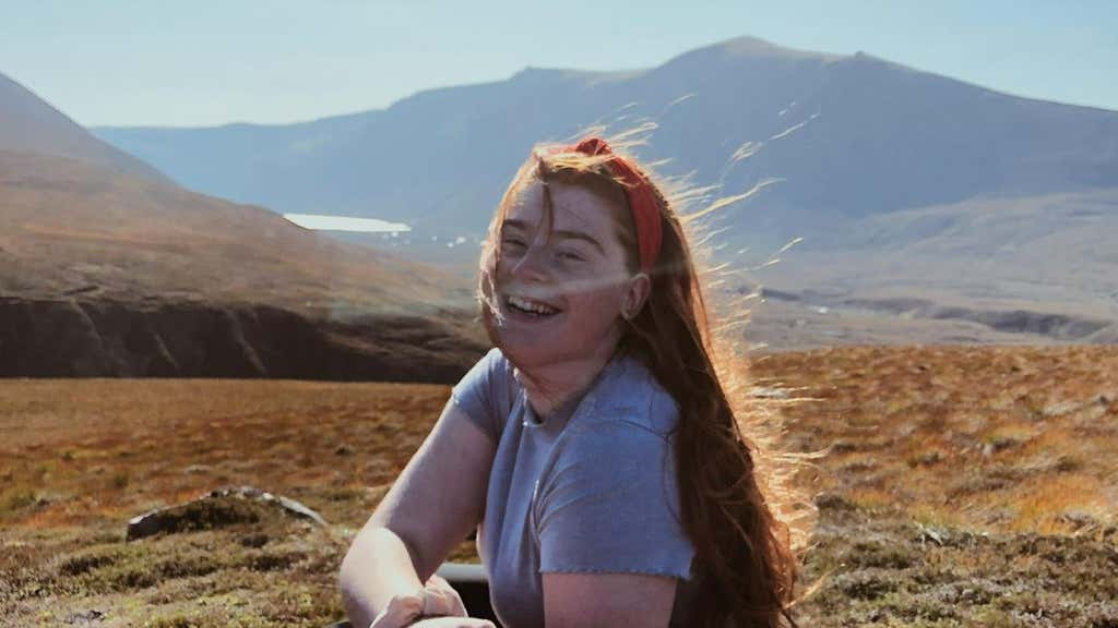 Fundraiser: Gordonstoun pupil Scarlett Sykes.