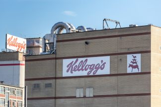 kelloggs factory sign on an building in Bremen Germany