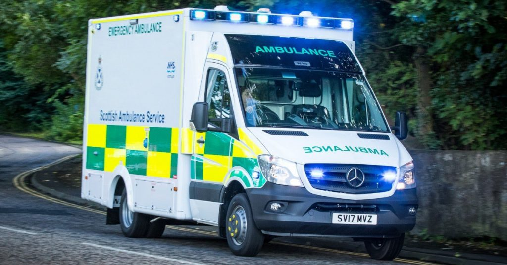 Ambulance: Firefighters have been assisting the Scottish Ambulance Service.