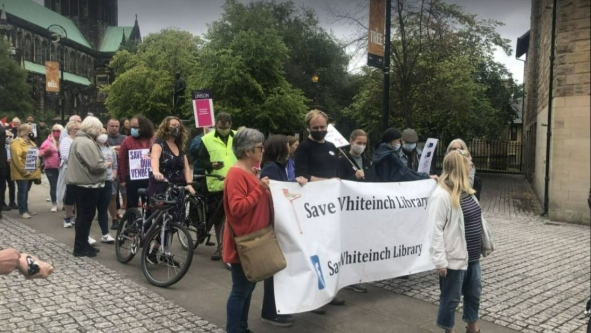 Glasgow Life protest