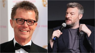 Nicky Campbell and Charlie Brooker.