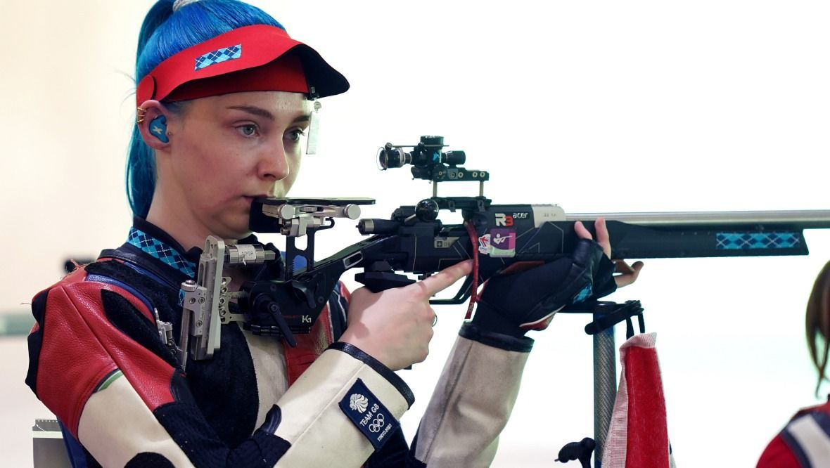 Great Britain's Seonaid McIntosh in the 50m Rifle Women's Qualification at Asaka Shooting Range on the eighth day of the Tokyo 2020 Olympic Games in Japan. Picture date: Saturday July 31, 2021.