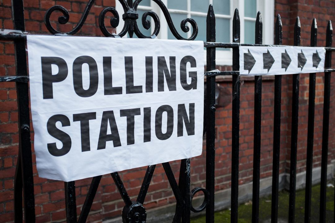 A polling station.
