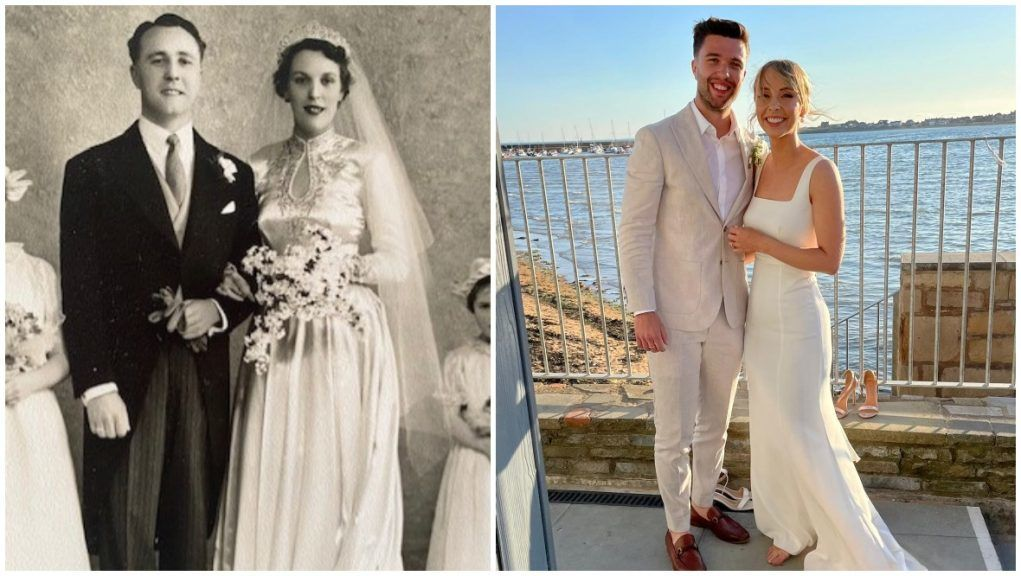 Wedding: Netta Hastings donated part of her wedding dress to her granddaughter-in-law.