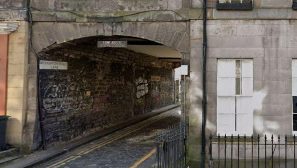 Lane: Woman attacked in Edinburgh.