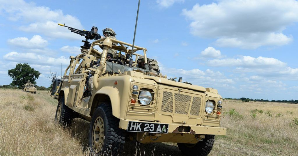 A laser weapon will be mounted on a British Army Wolfhound armoured vehicle.