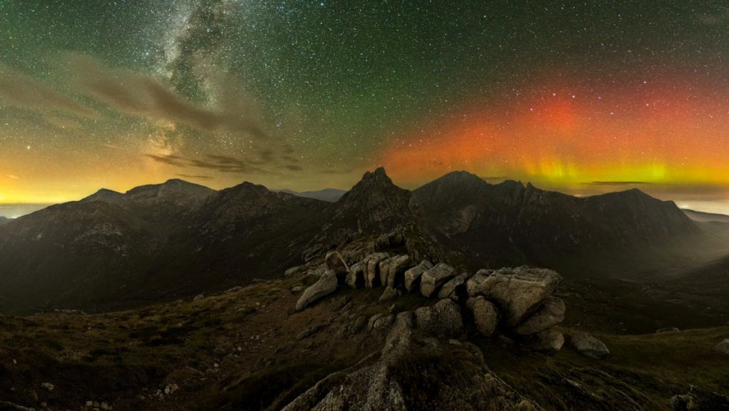 Milky Way: Stunning moment Northern Lights could be seen alongside a wash of stars.