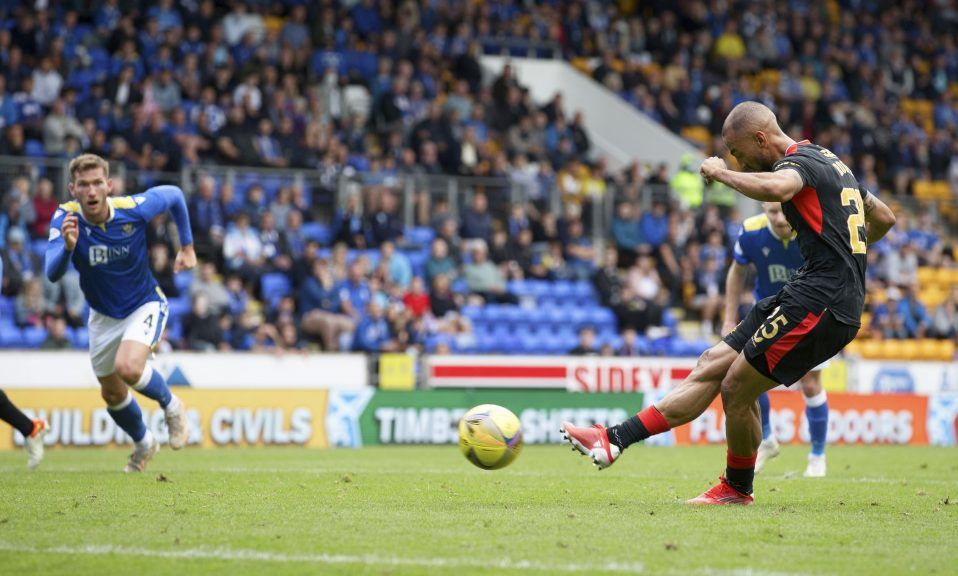 Equaliser: Roofe brings Rangers level from penalty spot.