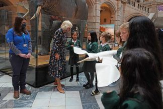 Charles and Camilla have visited Kelvingrove Art Gallery and Museum.