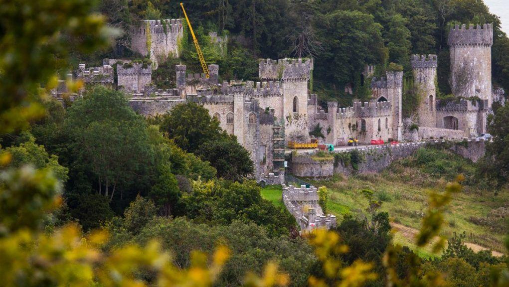 Vandalised: Welsh castle used for upcoming I'm a Celeb series damaged.