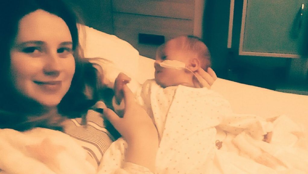 Sepsis: Samantha Sinclair fell ill with the condition while pregnant with son Mason.
