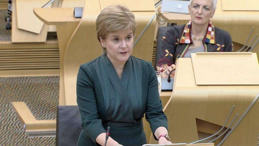 Sturgeon: FM deliver talk on climate action.