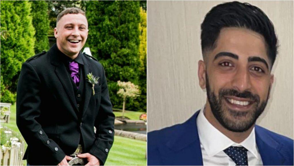 David Paton (left) and Manveer Benning died in M8 crash.