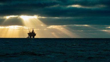 Stock image of oil rig.