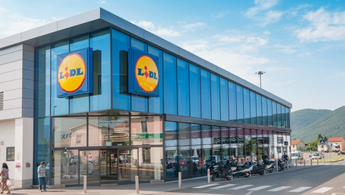 Stock image of a Lidl store.