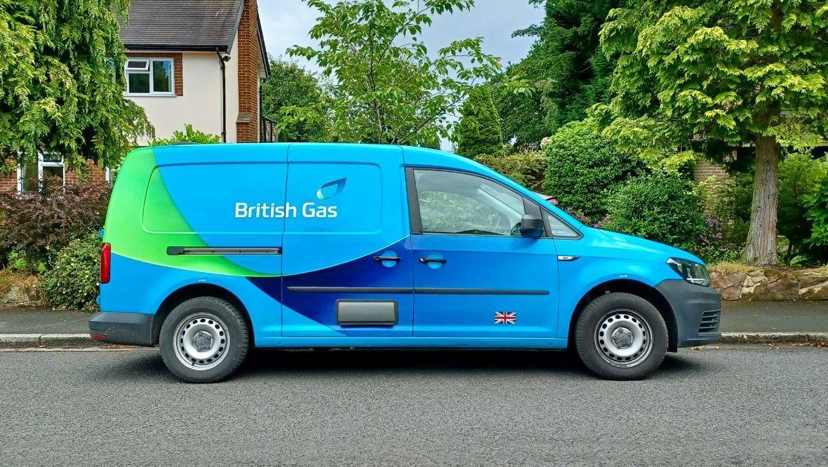 British Gas van.